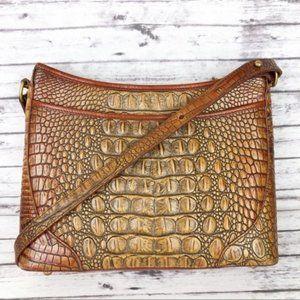 Brahmin Vintage Croco Embossed Crossbody Purse Bag